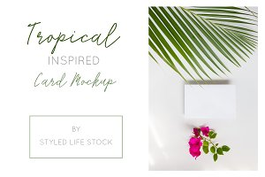 TROPICAL STYLED NOTE MOCKUP