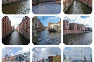 Hamburg landmarks set