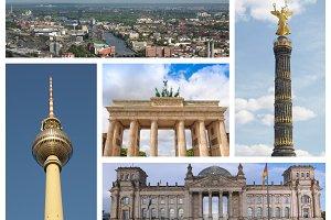 Berlin landmarks set