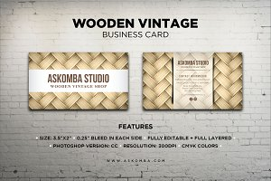 Wooden Vintage - Business Card