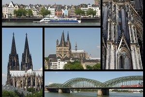 Koeln landmarks set