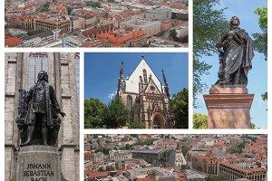 Leipzig landmarks set