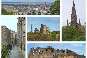Edinburgh landmarks set