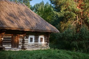 Ancient traditional Ukrainian house