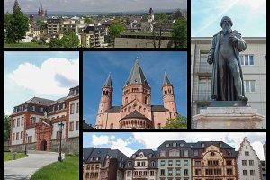 Mainz landmarks set
