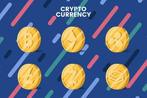 cryptocurrency sumbols illustration