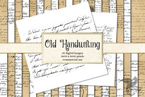 Old Handwriting Digital Paper