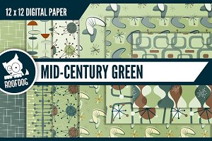 Mid century atomic digital paper