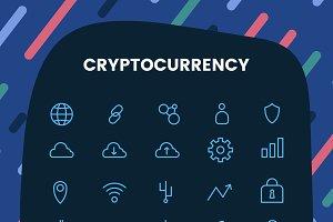 Cryptocurrency symbol vector