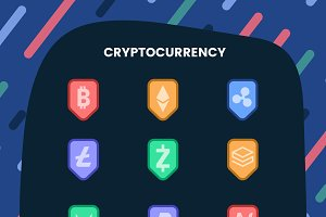 cryptocurrency symbol cash vector