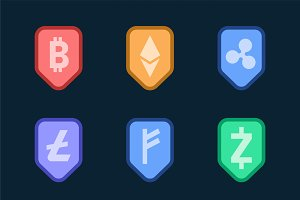 cryptocurrency cash symbol vector