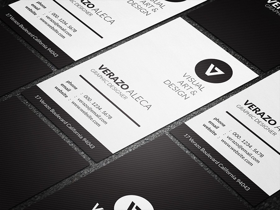 Clean Vertical Business Card ~ Business Card Templates ~ Creative ...