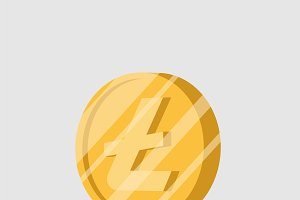 litecoin cryptocurrency sign vector