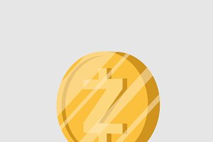 Zcash cryptocurrency sign vector