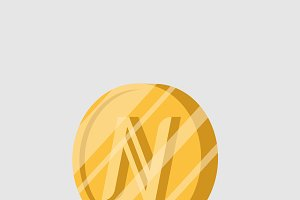Namecoin cryptocurrency sign vector