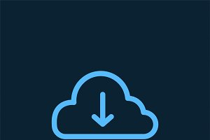 Download from cloud symbol vector