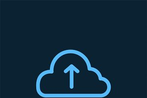 Upload to cloud storage sign vector