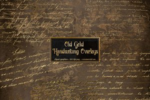 Old Gold Handwriting Overlays