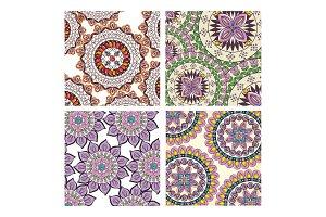 color mandala pattern background