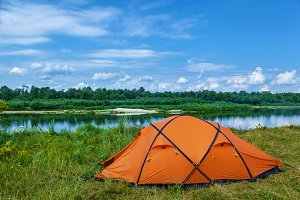 tent near the river