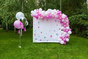 decor with balloons for a birthday