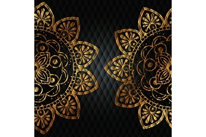 golden mandala pattern background