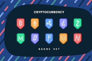 various cryptocurrencies sign vector