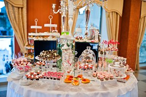 Royal elegance wedding reception tab