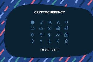 Cryptocurrencies set symbol vector