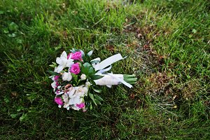 Tenderness wedding bouquet with smal