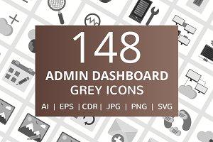148 Admin Dashboard Greyscale Icons