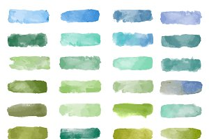 Colorful watercolor patch vector