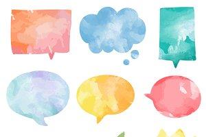 Colorful watercolor bubbles vector
