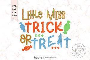 Little miss Trick or Treat SVG DXF