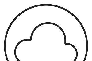 Cloud stroke icon, logo