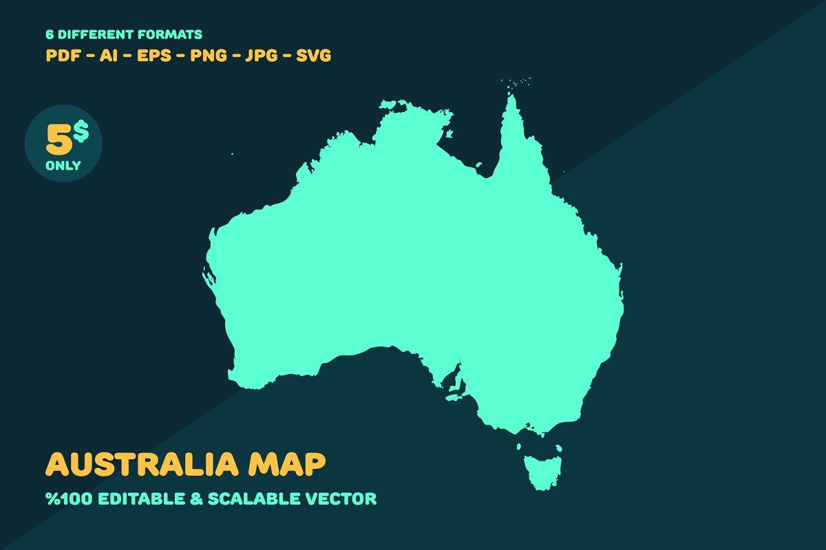 Australia Map Svg.Australia Map