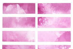 Abstract watercolor vector in pink