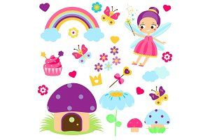 Cute fairy world icons