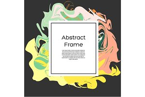 Frame with abstract liquid shapes
