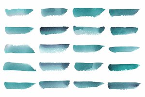 Abstract watercolor vector in green