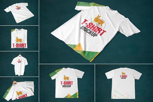 Round Neck T-shirt Mockups