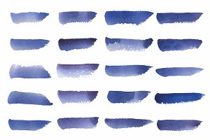 background watercolor vector in blue