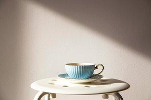 Blue cup of tea