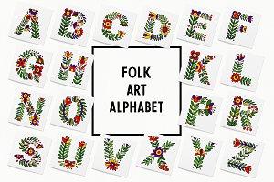 Folk Art Alphabet