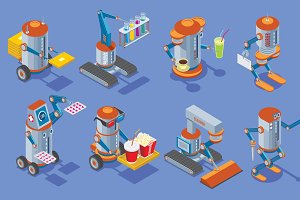 Isometric Robots Collection