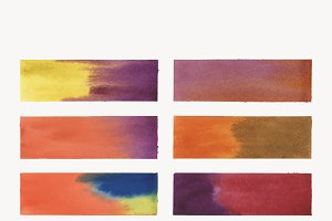 Rectangular shaped watercolor vector