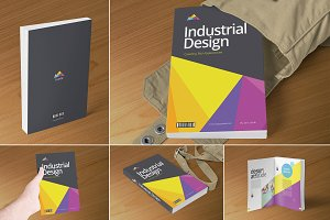 Softcover Book Cover Mockups