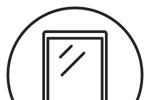 Tablet stroke icon, logo