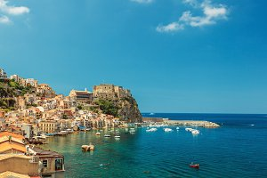 Scilla castle and harbor