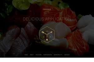 Delicious Application PSD Template